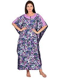 9teenAGAIN Kaftan Style Nighty with lace detailings 4AW16-0288-NS1-P 855753e7e