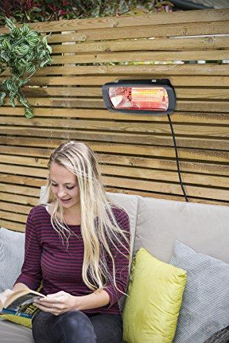 La Hacienda Heatmaster Royal Wand Stativ montiert Elektroheizung, schwarz, 49x 45x 9cm - 2