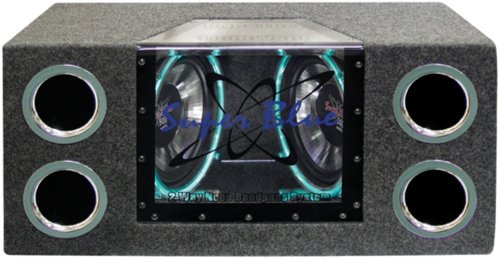 Pyramid BNPS102 Dual Bandpass Subwoofer Lautsprecher-System mit Neon-Accent-Lightning (25,4cm/10Zoll, 1000W) Dual-bandpass-system