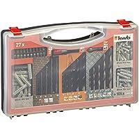 KWB DIY Juego de herramientas 132piezas 423000(broca piedra–Broca, madera, metal, puntas y portapuntas cónico, tacos), 132unidades),
