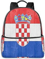 Rucksack für die Schule, große Kapazität, für Camping, Picknick, Fahrrad, Kokosnussbaum, Reggae, Farbe Jamaika, Camping, Outdoor-Rucksack für Damen, Herren, Geschenk für die Schule Flagge Kroatiens Einheitsgröße