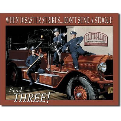 Three Stooges Fire Department Retro Vintage Tin Sign by Poster Revolution