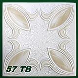 1 m2 Deckenplatten Styroporplatten Stuck farbige Platten 50x50cm, Nr.57 TB
