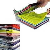 YOOUOOK Organizer per Armadio,Organizzatore di Armadi,Pieghevole Abbigliamento Board,Closet Organizer Camicia Cartella - 2 in 1 Cartella T-Shirt + Cartella di File (20 pz)