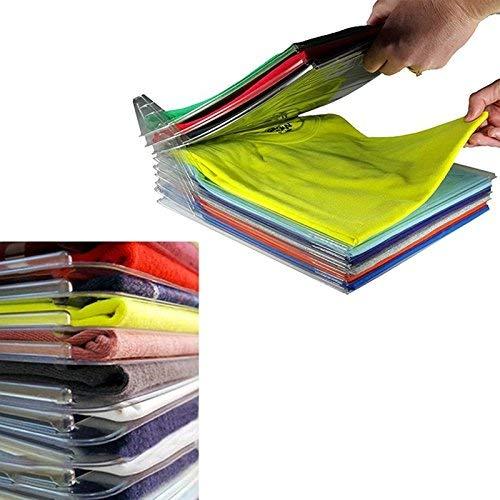 YOOUOOK Armario Organizador,Organizador de armarios,Organizador de Camisa Plegable,Camiseta Carpeta -Antiarrugas, para Guardar Ropa (20-Pack)