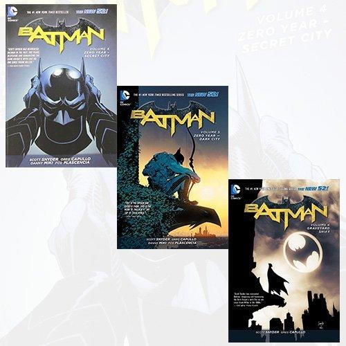 Batman Comics Collection 3 Books Bundle (Batman Volume 4: Zero Year - Secret City TP (The New 52),Batman Volume 5: Zero Year - Dark City TP (The New 52),Batman TP Vol 6 Graveyard Shift (The New 52)) by Scott Snyder (2016-11-09)