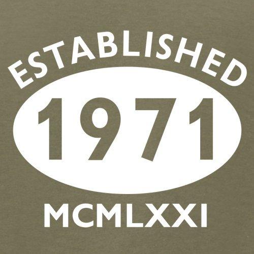 Gegründet 1971 Römische Ziffern - 46 Geburtstag - Herren T-Shirt - 13 Farben Khaki
