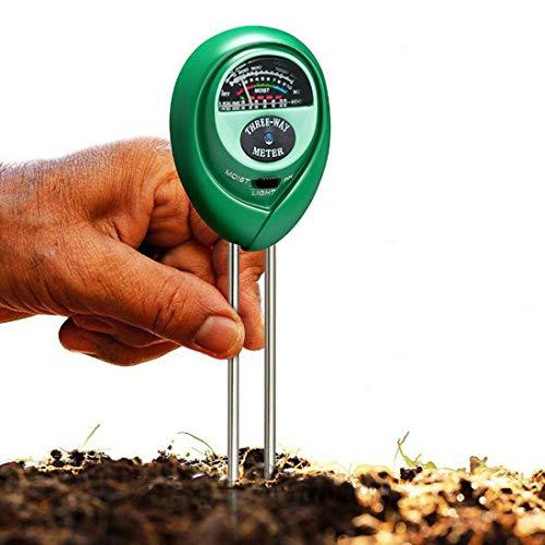 TianranRT 3 in1 pH Tester Boden Wasser Feuchtigkeit Licht Test Messgerät Bausatz für Garten Pflanze Blume