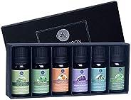 Lagunamoon Aceites Esenciales, Top 6 Set de Regalo de Aceites de Aromaterapia de Lavanda Eucalipto Hierba de L