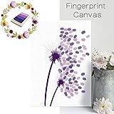 oobest Hochzeit Party Fingerabdrücke Baum Pusteblume Fingerabdruck Thumbprint anmelde Buch