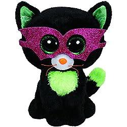 T.Y 41109 - Peluche Halloween (41109) - Peluche Beanie Boos Gato Antifaz (15cm), Juguete Peluche Beanie Boos Primera Infancia A Partir de 4 años