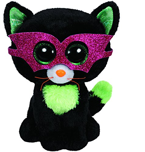 Jinxy - Halloween Katze, 15cm, mit Glitzeraugen und Glitzerbrille, Beanie Boo's, limitiert