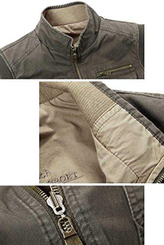 MatchLife Hommes Veste Sans Manches Gilet de Maille Respirant Multi Poches Gilet de Pêche Style8-Armée Verte