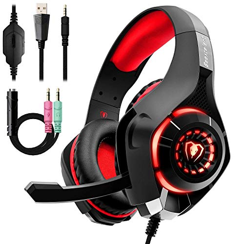 Auriculares Gaming Premium Stereo con Microfono para PS4 PC Xbox one,