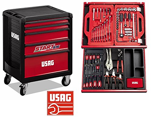 USAG 516 SP5B START CARRELLO CASSETTIERA PORTA UTENSILI COMPLETO ASSORTIM 146 PZ