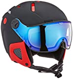 ALPINA Attelas Visor Vhm Skihelm, Black-Red Matt, 58-62 cm