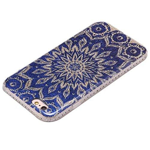 GR Für IPhone 6 & 6s-Bling Sparkle Glitter Strass Harz Diamant schützende Rückseite Case weiche TPU Shell Bumper Cover [Shock Absorbtion] ( Color : C ) D