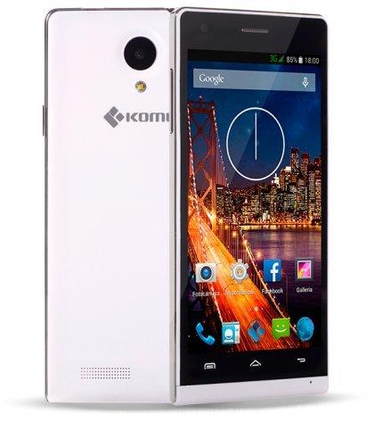 Komu Style Bianco smartphone dual sim android 4.4.2 Kitkat Display HD 4.7' IPS nuovo design Marchio ITALIANO