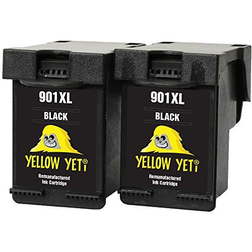 Yellow Yeti Rigenerate 901XL 901 XL Cartucce d'Inchiostro Nero per HP OfficeJet 4500 G510a G510g G510n J4500 J4524 J4535 J4540 J4550 J4580 J4585 J4600 J4624 J4640 J4660 J4680 J4680c