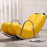 Dngy*creativa independiente único sofá sillas mecedoras banana yoyos personalidad asiento encantador estilo europeo moderno sofás , casas de pequeño tamaño, de color amarillo (2)