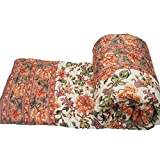 #10: Shopnetix Jaipuri Light Weight Pure Cotton Double Bed Quilt Rajai Multi