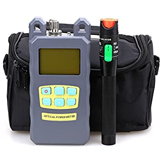 FTTH Fiber Tool Kit 3packs in One 30mW Visual Fault Locator Fiber Optic Cable Optical Power Meter -70dBm~+10 dBm With Empty Fiber Tool Bag by Cruiser