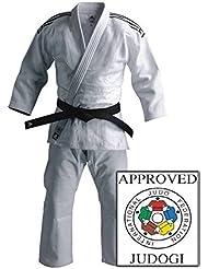 newest collection 53939 8fa70 Kimono Judo J930 Blanc Adidas couleurs de bandes au choix