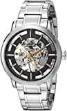 Stuhrling Original Classic Winchester Pro Men's Mechanical Watch with Black Dial Analogue Display and Silver Stainless Steel Bracelet 394.33111