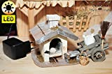 Krippenzubehör Brotbackofen beleuchtet mit Flacker-Trafo + Wagen + Mehl + Deko Weihnachtskrippen figuren Passionskrippe Krippenfiguren - KREUZWEG-Licht Jesus 14-2 Mt 27,59-61,- Passion Christi - für 9-10 cm Figuren, Figur-Krippenfiguren für Passionskrippe und Weihnachtskrippe - hochwertige Kreuzweg ÖLBAUM-Passionsfiguren: 40 einzigartige Stationen, Fastenzeit von Aschermittwoch bis Ostern Deko, Abendmahl und Karfreitag-, Auferstehung Jesus von Nazareth