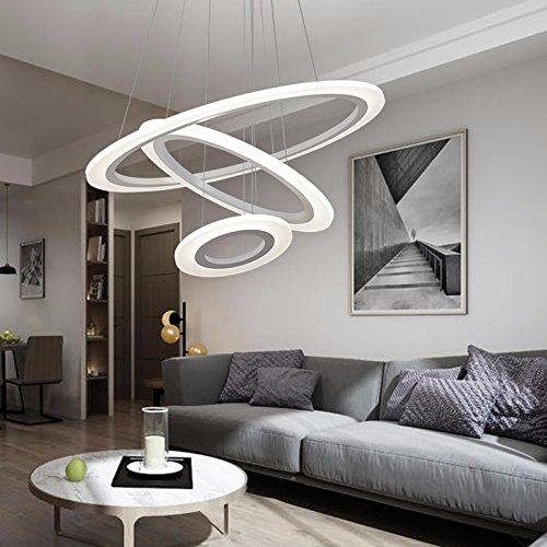 HUANGXIN & LIEF Wohnzimmer Kronleuchtern LED-Lampen moderne Home Zimmer Schlafzimmer Lampen runder Ring Restaurants Speisesaal mit Kronleuchtern Deckenleuchten in der Nähe der Decke Lampen LED Electrodeless Dimmen -