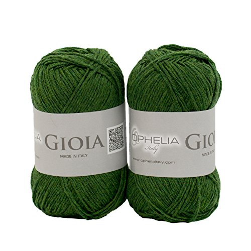 ophelia-italy-gioia021-ball-of-wool-100-extra-fine-merino-new-wool-non-shrink-2x-50g-moss-green