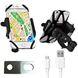 Blackcat Bike Mobile Charger with Holder for Bikes & Scooters - Mirror Mount