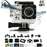 Ourlife 4K Wifi Underwater Sports Action Camera Ultra 170 HD Wide-angle Fish-eye Lens 2 Inch LCD Screen (1050mah