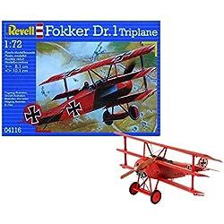 Revell- Fokker Dr triplano, Kit de Modelo, Escala 1:72 (4116) (04116),, 8,1 cm (