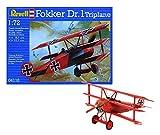 Revell- Fokker Dr triplano, Kit de Modelo, Escala 1:72 (4116)...