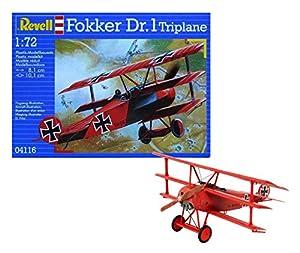 Revell- Fokker DR. 1 Maqueta Triplano, 10+ Años, Multicolor, 8,1 cm (04116)