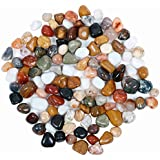 Pebble Kart by Meraki India Polished Glossy Multi Color Onyx Decorative Stones Pack of 250gm