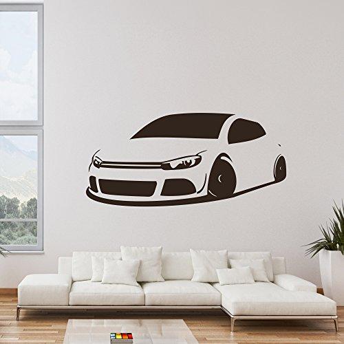 malango® Wandtattoo Auto Fahrzeug Tuning Wand Tattoo Wandaufkleber Autowelt Männerwelt Design Style Aufkleber ca. 180 x 84 cm dunkelblau