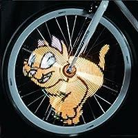 MaMaison007 64 LED luci fai da te bici bicicletta ha parlato luce impermeabile colorato programmabile