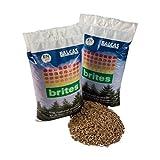 Wood Pellets BALCAS Brites 10KG Bag 2Pack