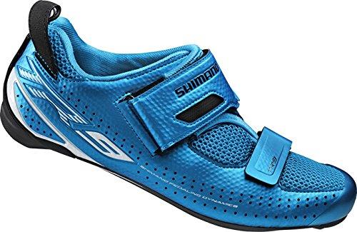 Shimano Erwachsene Fahrradschuhe Triathlonschuhe SH-TR9 GR. 44 SPD-SL Klettverschl. Straßen Radschuhe, Blau (Blue), EU (Bester E-bike Für Das Geld)