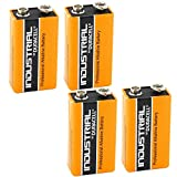 Duracell Industrial Alkaline Batterie Block 9V 6LF22, 4 pieces