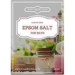 Casa De Amor Epsom Salt for Bath and Spa, Pure and Healthy, 500 gm