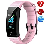 Semaco Fitness Trackers Watch, Activity Tracker with Heart Rate Monitor Waterproof IP68, Sleep Monitor, Calorie Step Counter, Pedometer Watch with Connected GPS for Kids Women Men