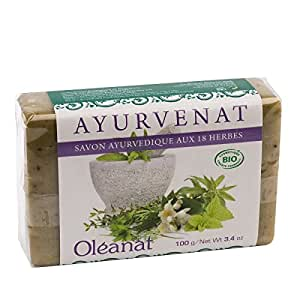 Oléanat Ayurvenat Savon Ayurvedique aux 18 Plantes Bio 100 g