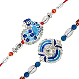 Mahi Combo of Magnificient Two Rakhis ( Raksha Sutra ) for Dearest Brothers CO1104266R