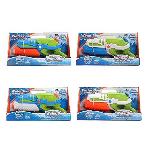 TeaQ Water Pistol Portable Design Range 6-8m for Kids and Adults Fun Water Toys Random Colour