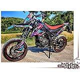MX Calcoman/ías Kit para Derbi 50 Fox Kit D/éco Moto para