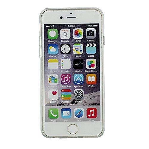 """iPhone 6S Plus Hülle Case Hardcase Schwer Hoch Transparent PC Hübsch [Funkeln Powder/Herzen Fließen] Entwurf Flüssiges Wasser Muster Stil Schutzhülle Apple iPhone 6 Plus 5.5"""" X 1 Stylus pen Cyan"""