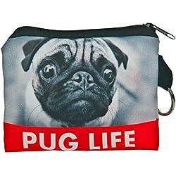 Carteras monedero de Kukubird Pug life